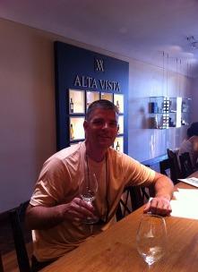 Steve with wine