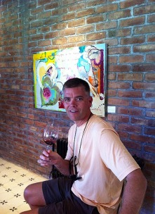 Steve with a Malbec