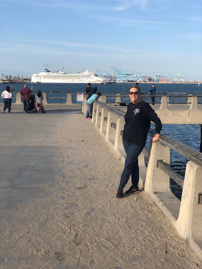 Norwegian ship leaving port