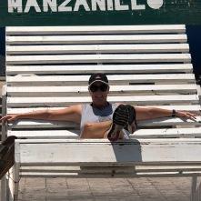 Marnie in a big chair